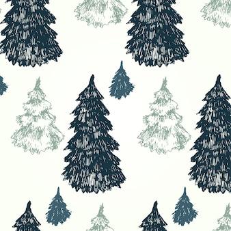 Patrón de árboles de pino
