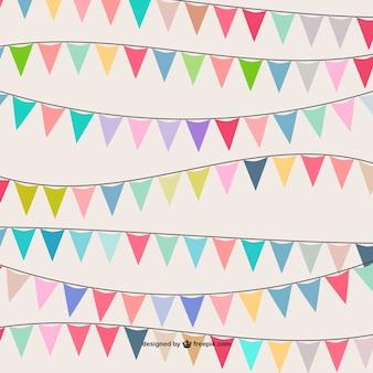 Patrón de banderines de colores