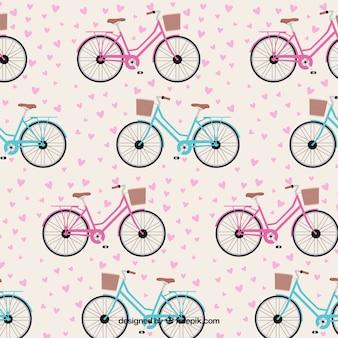 Patrón de bicicletas preciosas