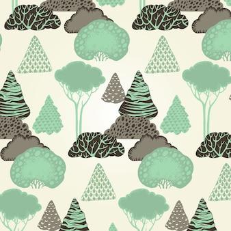 Patrón de bosque