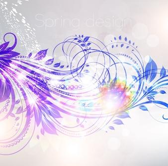 Patrón de color del amor esbozo ornamental