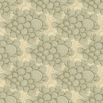 patrón de conchas grises