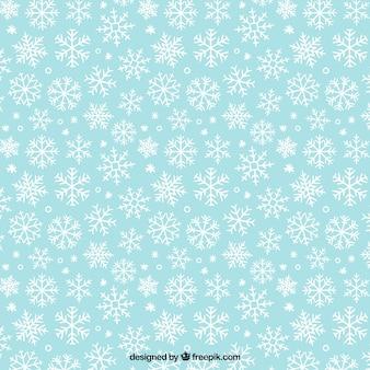 Patrón de copos de nieve blancos