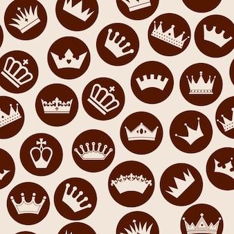 Patrón de coronas dentro de círculos