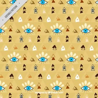 Patrón de decoración boho dibujada a mano