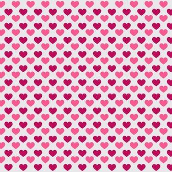 Patrón de Día de San Valentín con corazones rosas