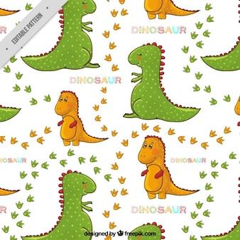 Patrón de dinosaurios adorables