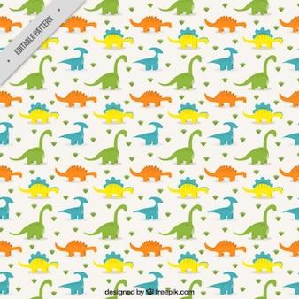 Patrón de dinosaurios de colores