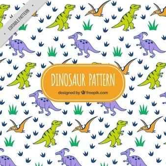 Patrón de dinosaurios fieros