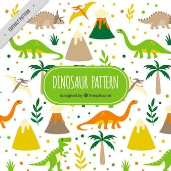 Patrón de dinosaurios salvajes