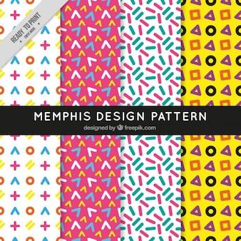 Patrón de diseño estilo memphis