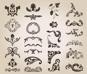 patrón de diseño libre floral del vintage