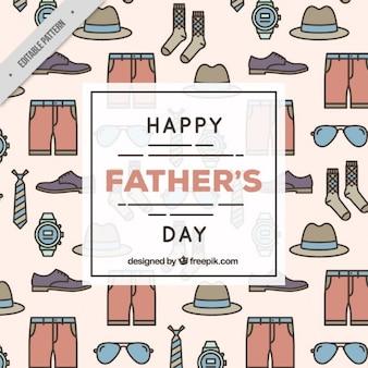 Patrón de feliz día del padre