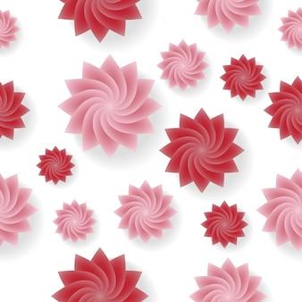 Patrón de flor transparente vector de fondo