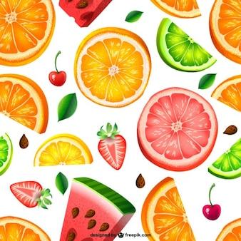 Patrón de fondo de frutas