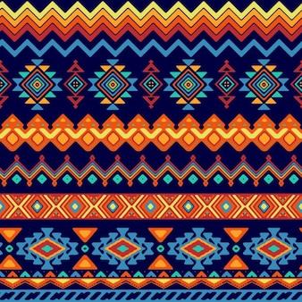 Patrón de formas abstractas en estilo étnico