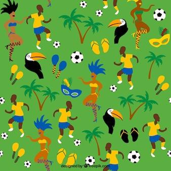 Patrón de fútbol y bailarina de carnaval