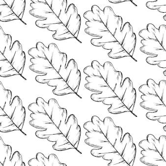Patrón de hojas sobre fondo blanco