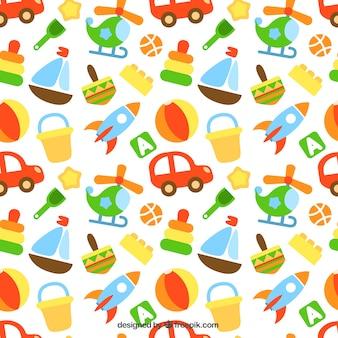 Patrón de juguetes de colores