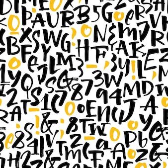 Patrón de letras