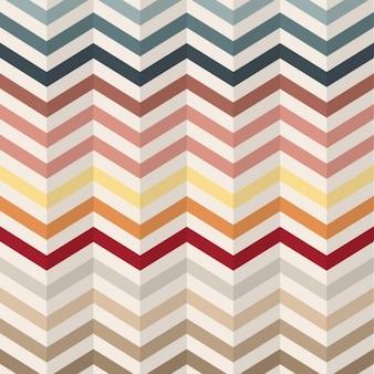 Patrón de líneas zig zag en estilo vintage