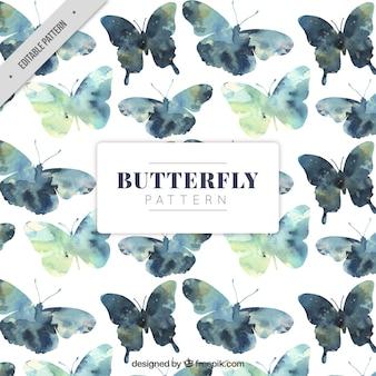 Patrón de mariposas en estilo de acuarela