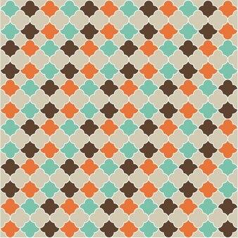 Patrón de mosaico de estilo islámico