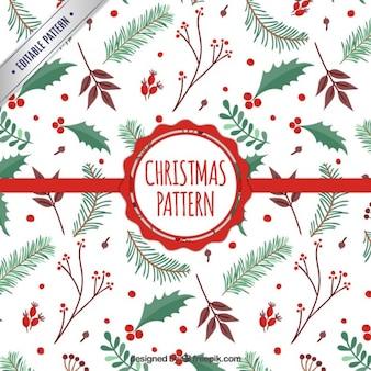 Patrón de muérdago de Navidad