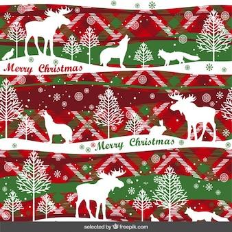Patrón de Navidad con los animales