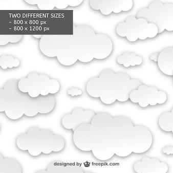 Patrón de nubes blancas