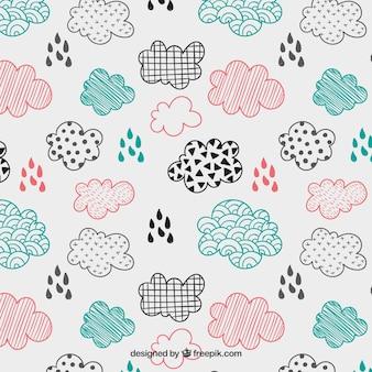 Patrón de nubes esbozado
