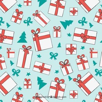 Patrón de paquetes de navidad