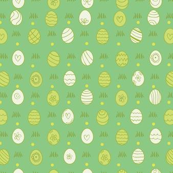 Patrón de Pascua con huevos