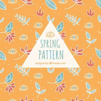 Patrón de primavera decorativo