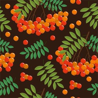 Patrón de ramas y frutos