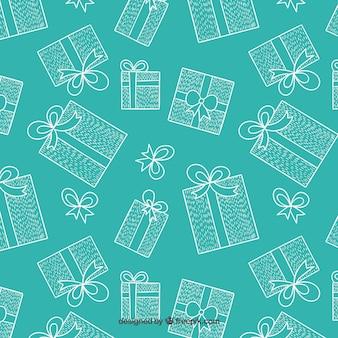 Patrón de regalos de navidad