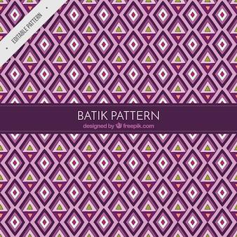 Patrón de rombos y triángulos en estilo batik