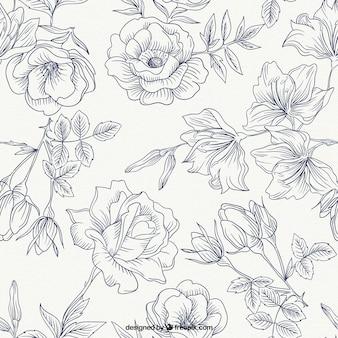 Patrón de rosas de primavera