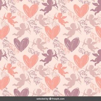 Patrón de San Valentín rosado lindo