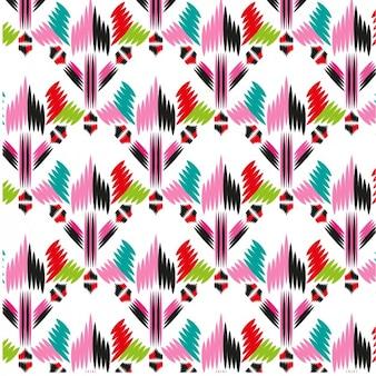 Patrón de tela a color de formas abstractas