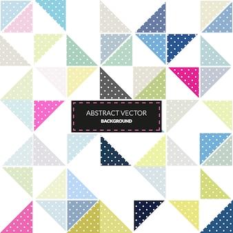 Patrón de triángulos multicolor