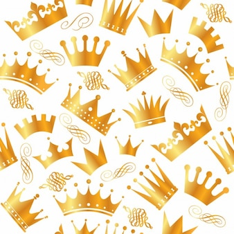 Patrón de variedad de coronas doradas