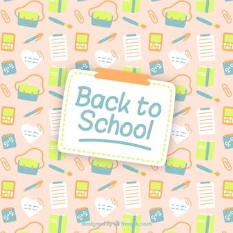 Patrón de vuelta a la escuela