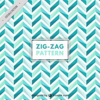 Patrón de zigzag en tonos azules