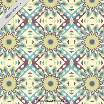 Patrón decorativo de flores abstractas