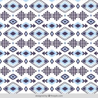 Patrón decorativo de rombos y formas geométricas