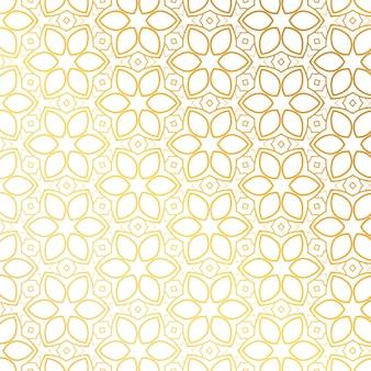 Patrón dorado con formas florales