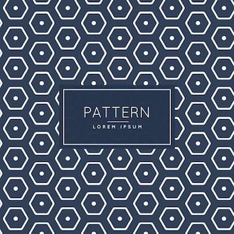 Patrón elegante hexagonal