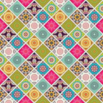 Patrón étnico colorido decorativo