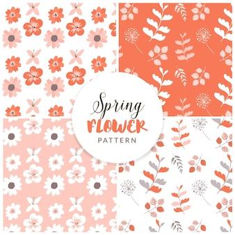 Patrón floral de primavera